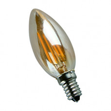 E14-5W-4000K Лампа LED (Свеча золото Филомент)